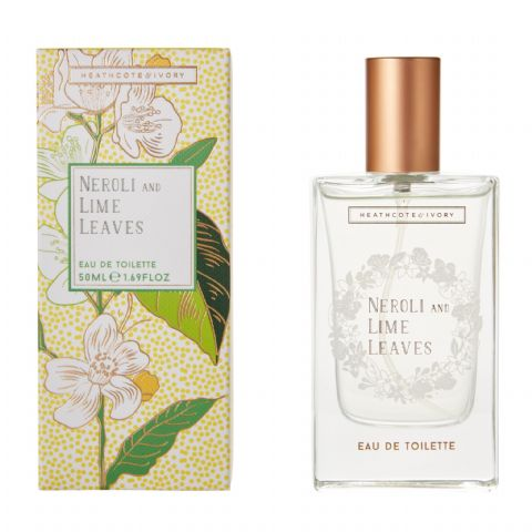 Neroli & Lime Leaves Eau De Toilette Perfume EDT 50ml Heathcote & Ivory
